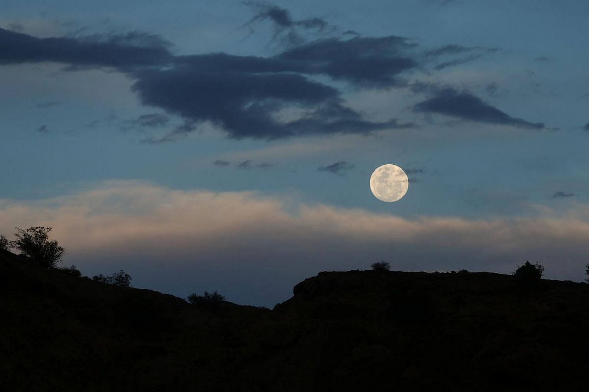 The supermoon is seen over Ischigualasto Provincial Park in San Juan, Argentina, on Nov 13, 2016.