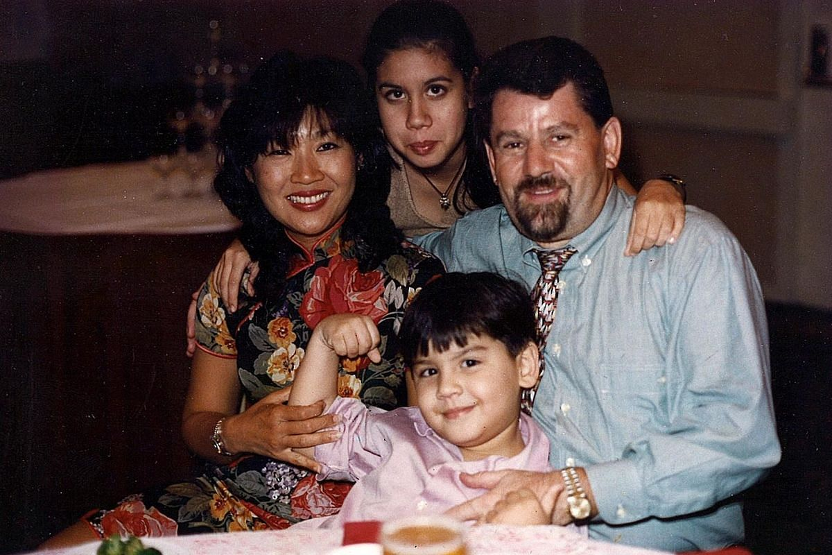 My life so far: Weibel with his wife and children in 1996.
