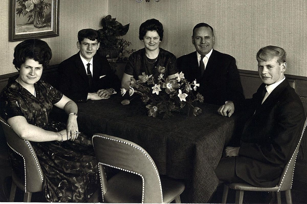 My life so far: Otto Weibel (above, second from left), aged 16, with his family in Switzerland in 1962; and with French chef Paul Bocuse at the culinary competition Bocuse d'Or in Lyon in 2003.