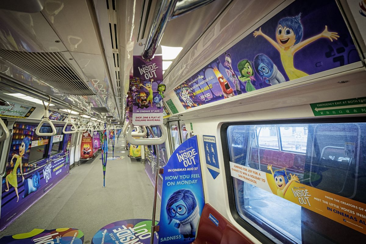The 'concept trains' featured characters from Disney's Inside Out in July 2015.