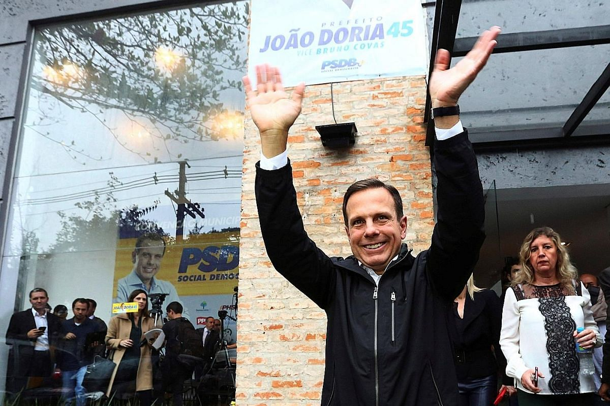 In Sao Paulo, outsider Joao Doria, a millionaire businessman, campaigned as a non-politician for the post of mayor and won last month. Cementing comparisons with US President-elect Donald Trump, Mr Doria had starred in Brazil's version of reality TV