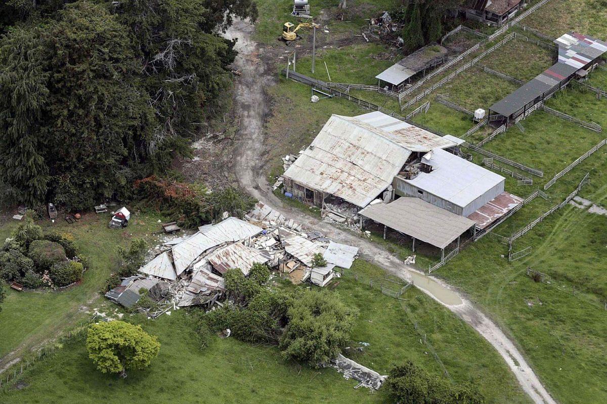 The Elms Homestead destroyed by an earthquake near Kaikoura on the South Island's east coast on Nov 14, 2016.