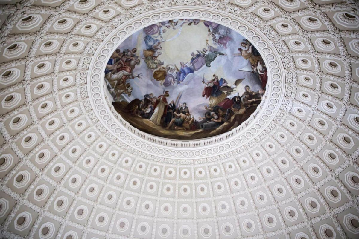 An interior view of the US Capitol dome after the successful completion of the US Capitol Dome Restoration Project in Washington, DC, US, on Nov 15, 2016.
