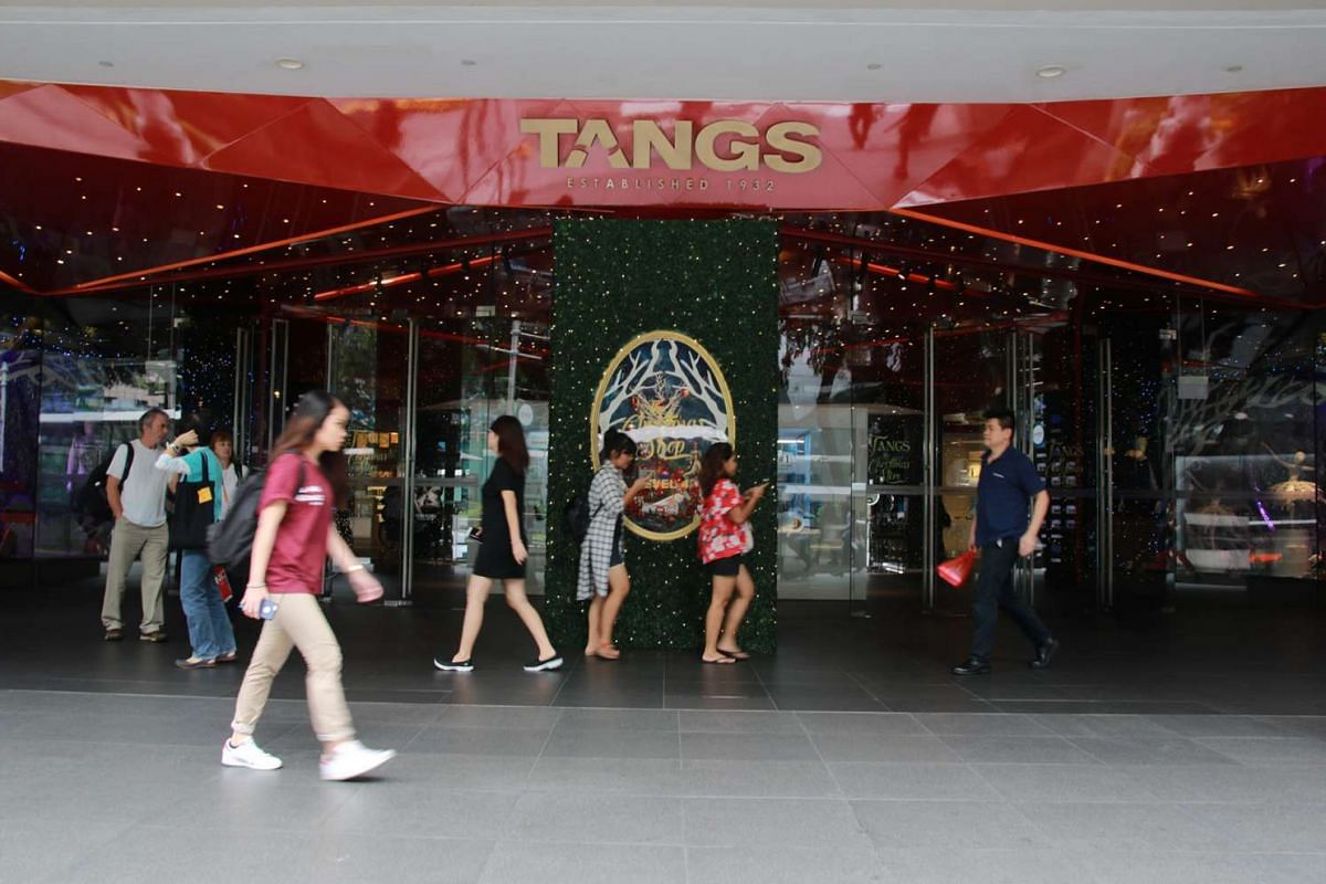 Tangs at Tang Plaza. Retail experts think that food is the key to survival for department stores in Singapore.
