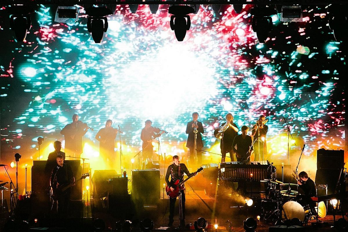 Icelandic band Sigur Ros performing during their sold-out maiden performance in Singapore's Fort Canning Park in 2012.