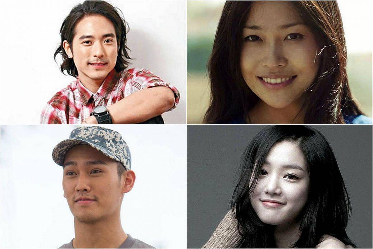 Clockwise from top left: Hong Kong singer/actor Alex Lam, Chinese director Zhang Mo, South Korean actress Lee Yu Bi and Hong Kong actor Wesley Wong.