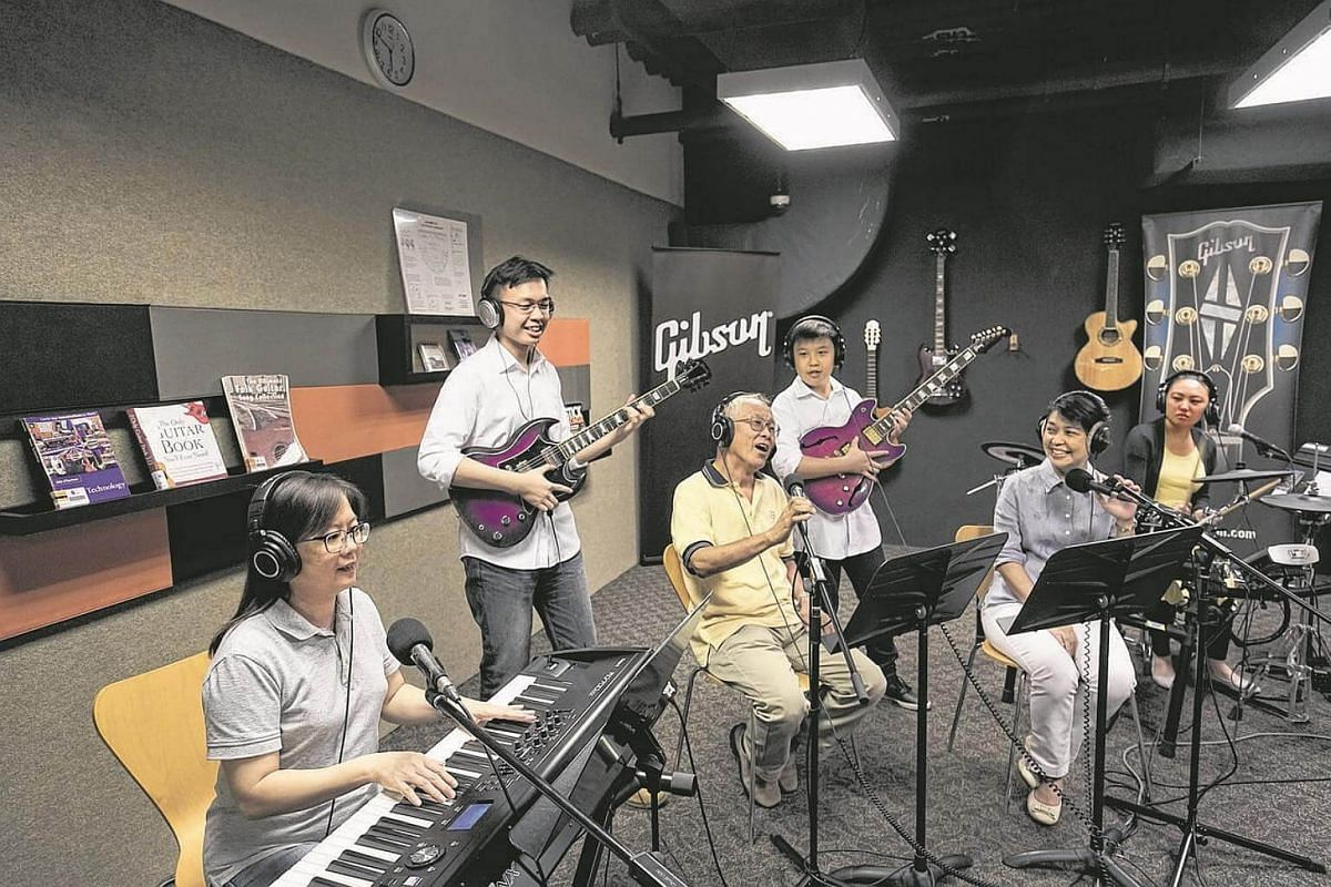 Visitors to the library@esplanade can have a music jamming session in its Silent Studio.