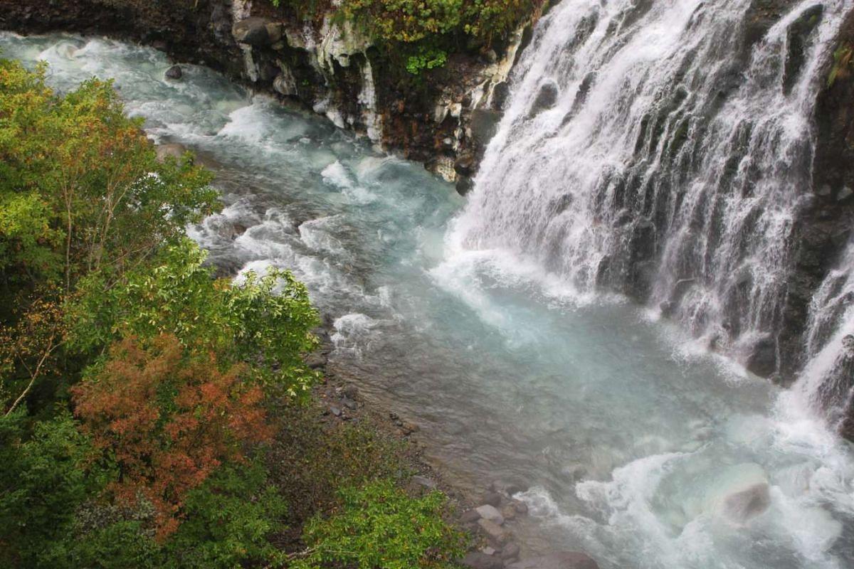 Shirahige waterfall in Biei.