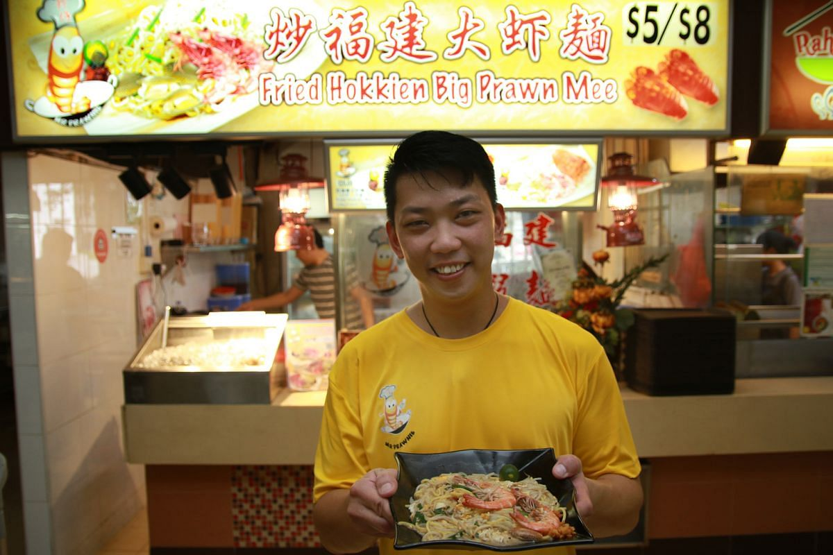 Mr Prawnie's founder Pang Biau Juan (above) started the fried Hokkien prawn mee stall in Ang Mo Kio last month.