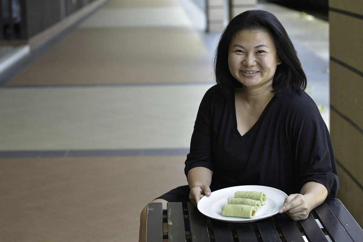 Self-taught kueh-maker Deborah Tan (above) wants to set up a hawker stall selling kueh tea platters.