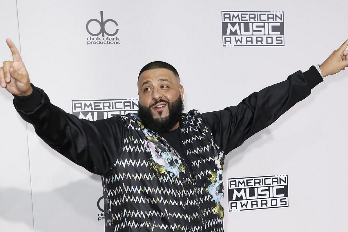 Producer DJ Khaled arriving at the American Music Awards in Los Angeles, California, on Nov 20, 2016.