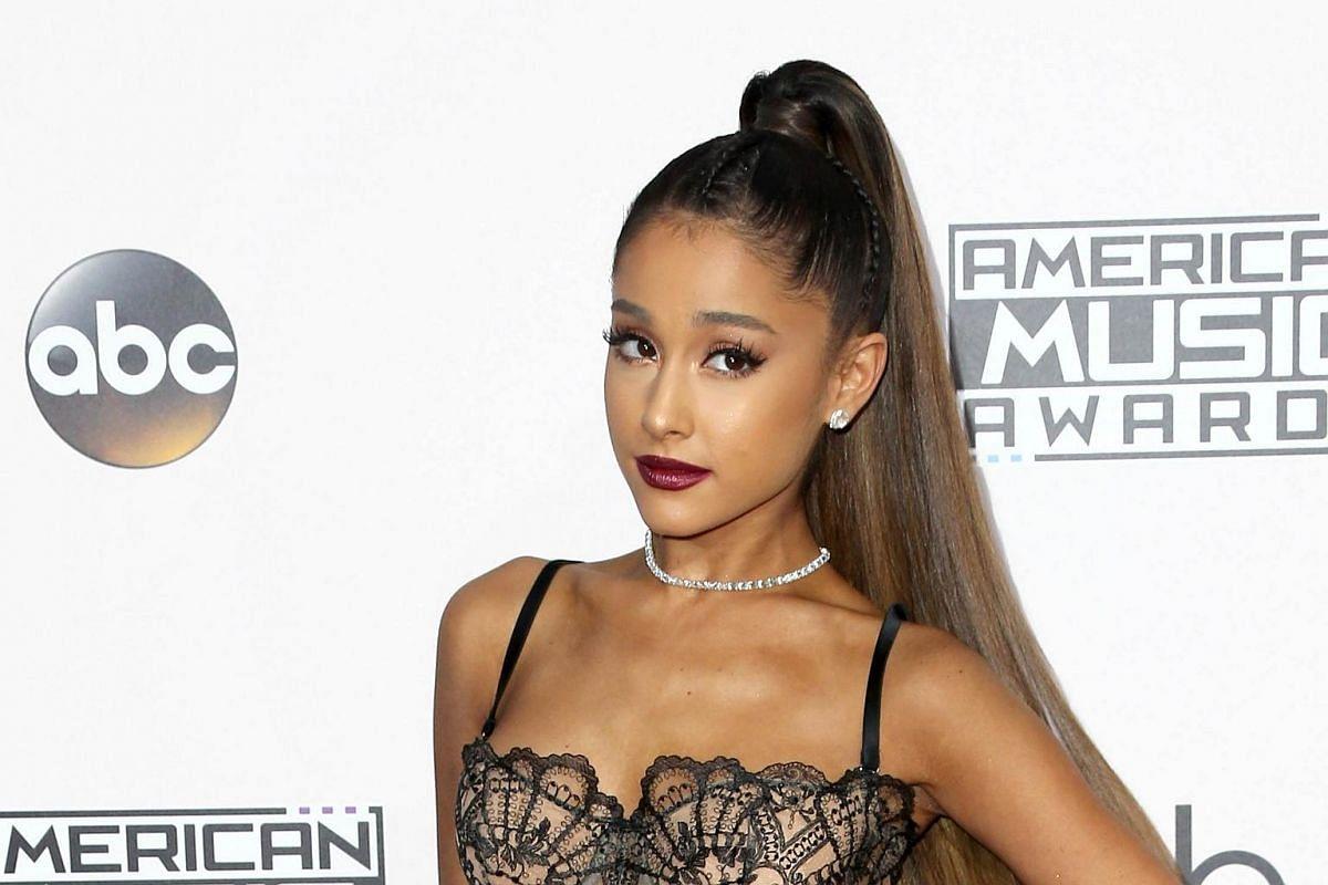 Recording artist Ariana Grande attending the American Music Awards in Los Angeles, California, on Nov 20, 2016.
