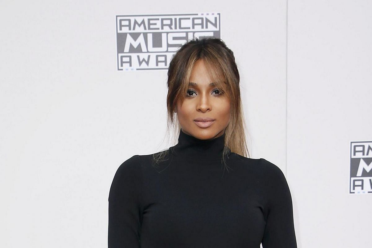 Singer Ciara arriving at the American Music Awards in Los Angeles, California, on Nov 20, 2016.