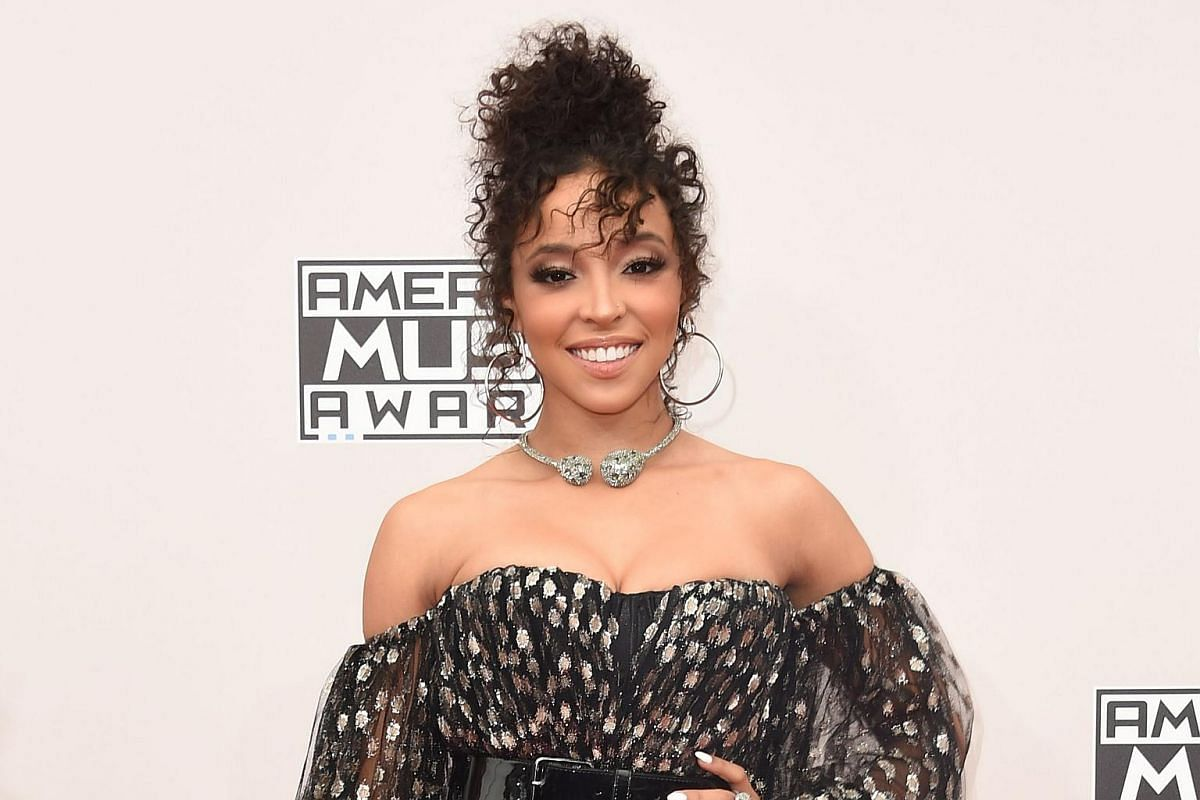 Singer Tinashe arriving for the American Music Awards in Los Angeles, California on Nov 20, 2016.