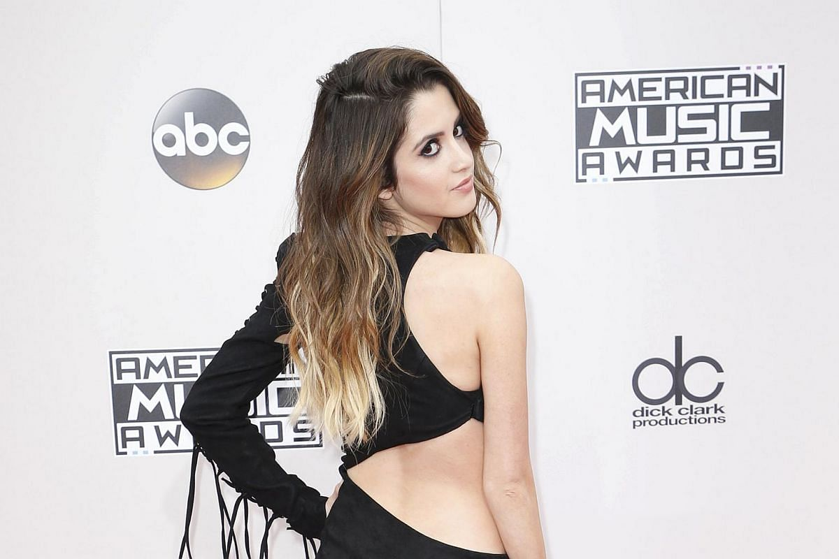 Actress Laura Morano arriving at the American Music Awards in Los Angeles, California, on Nov 20, 2016.
