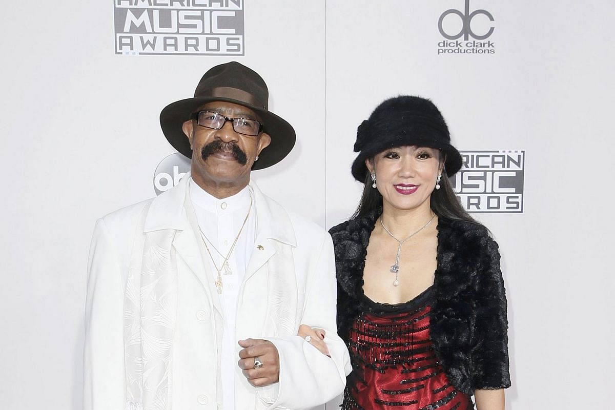 Dennis Graham, father of recording artist Drake, and a guest arriving at the American Music Awards in Los Angeles, California, on Nov 20, 2016.