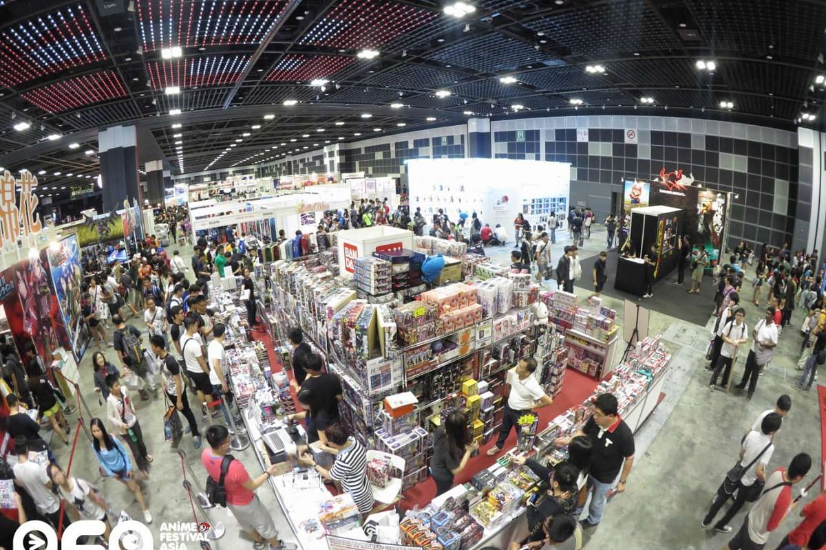 Crowd at the Anime Festival Asia Singapore 2014.