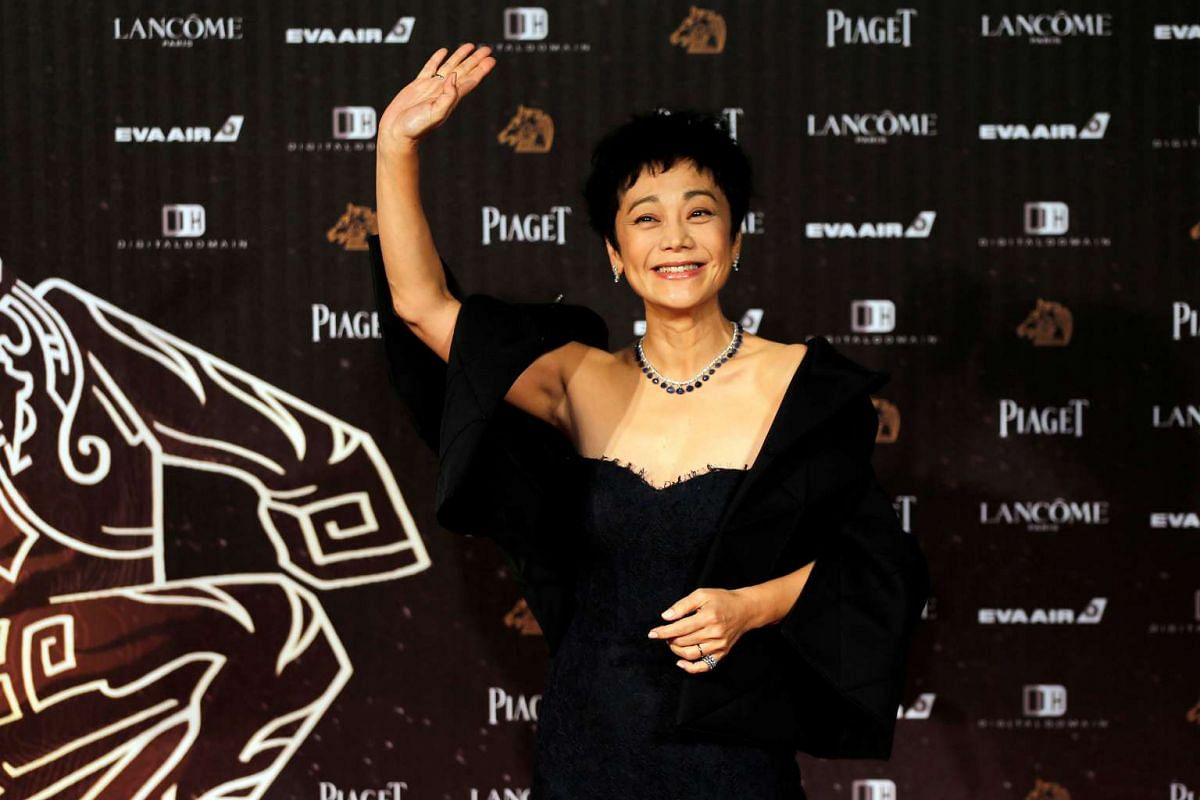 Actress Sylvia Chang poses on the red carpet at the 53rd Golden Horse Awards in Taipei on Nov 26, 2016.