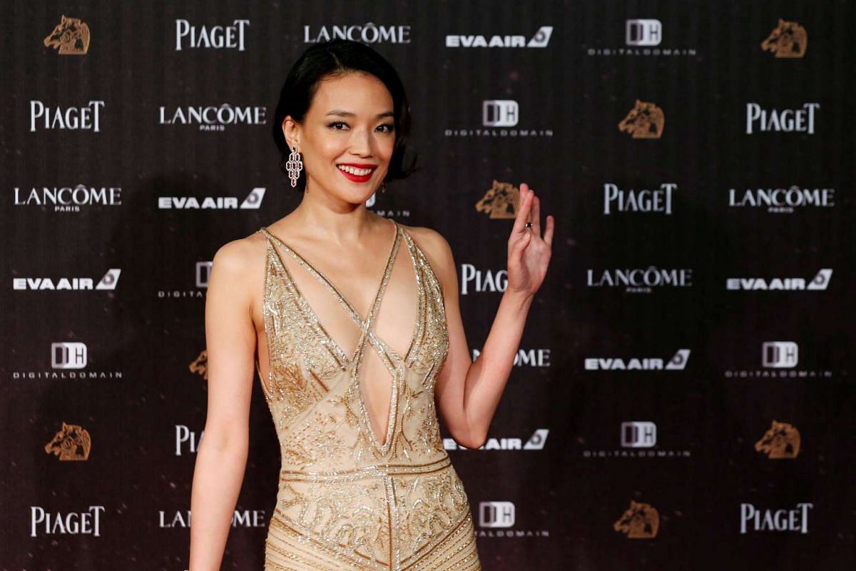 Actress Shu Qi poses on the red carpet at the 53rd Golden Horse Awards in Taipei on Nov 26, 2016.