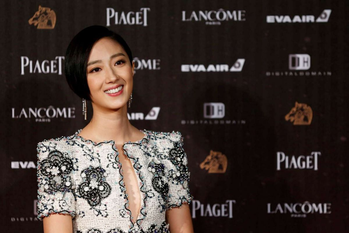 Actress Gwei Lun-mei poses on the red carpet at the 53rd Golden Horse Awards in Taipei on Nov 26, 2016.