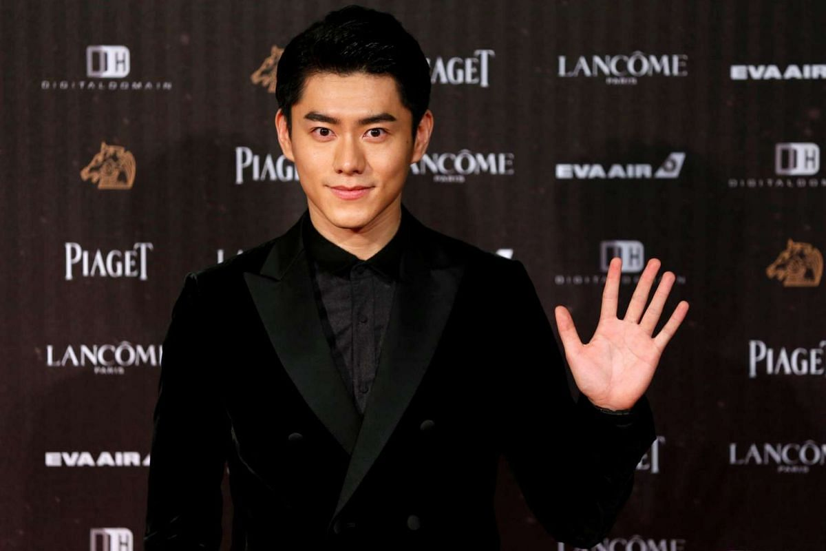 Actor Toby Lee poses on the red carpet at the 53rd Golden Horse Awards in Taipei on Nov 26, 2016.