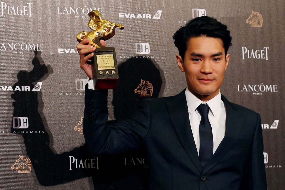 Director Wong Chun poses backstage after winning the Best New Director award for his movie Mad World at the 53rd Golden Horse Film Awards in Taipei, Taiwan on Nov 26, 2016.