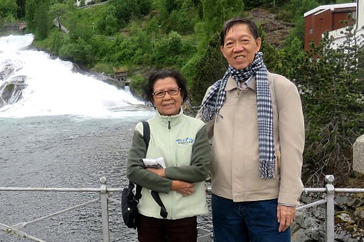 Mr Lee Kah Chuen and his wife Madam Tan Jee Pang (above) at Geiranger Village in Norway while on a Scandinavian cruise in April this year. Silver travellers, who have more disposable income and fewer responsibilities, are a growing segment for the tr