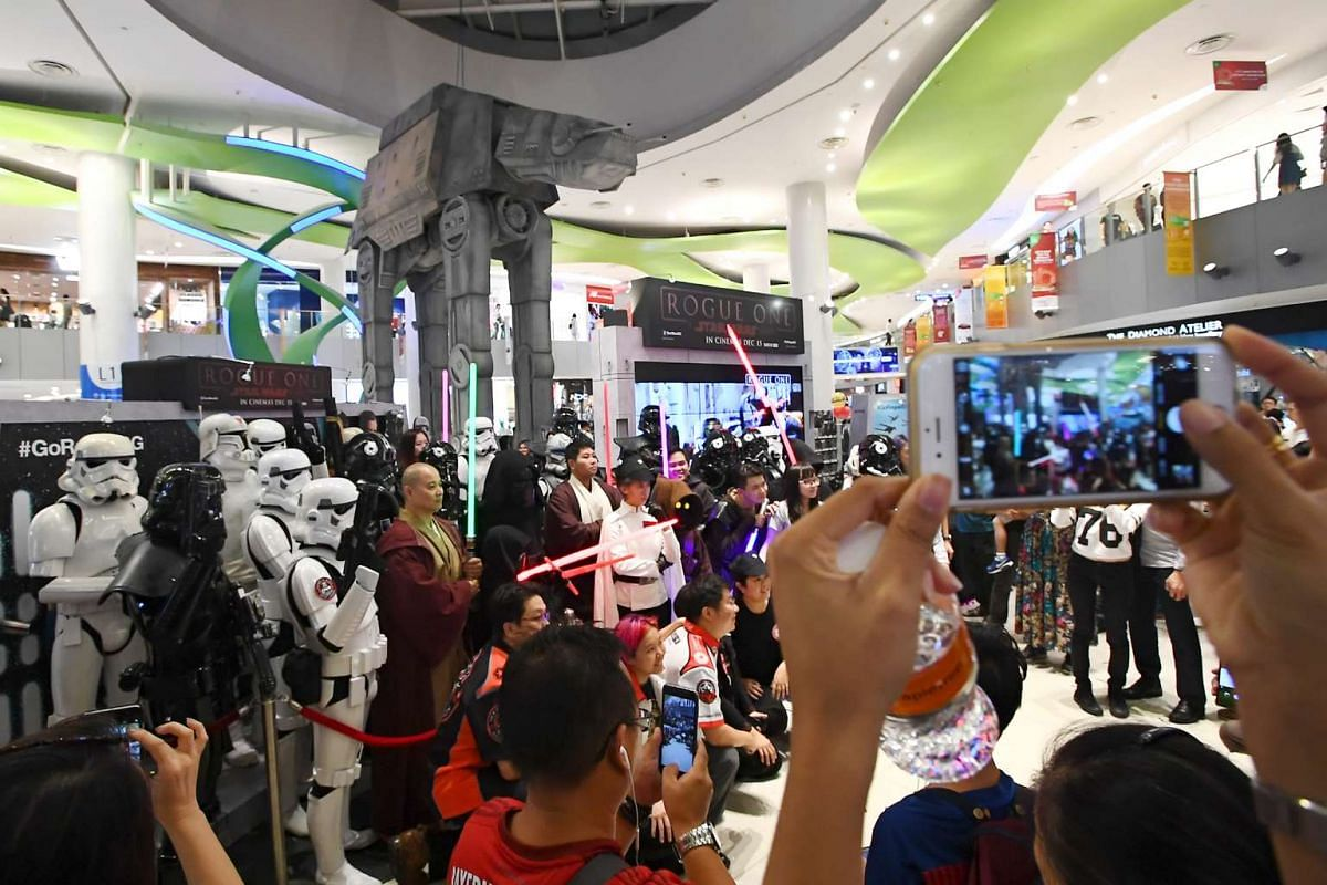 The Rogue One: A Star Wars Story interactive event at VivoCity features a 8m-tall AT-ACT Walker, a virtual reality experience and game stations.