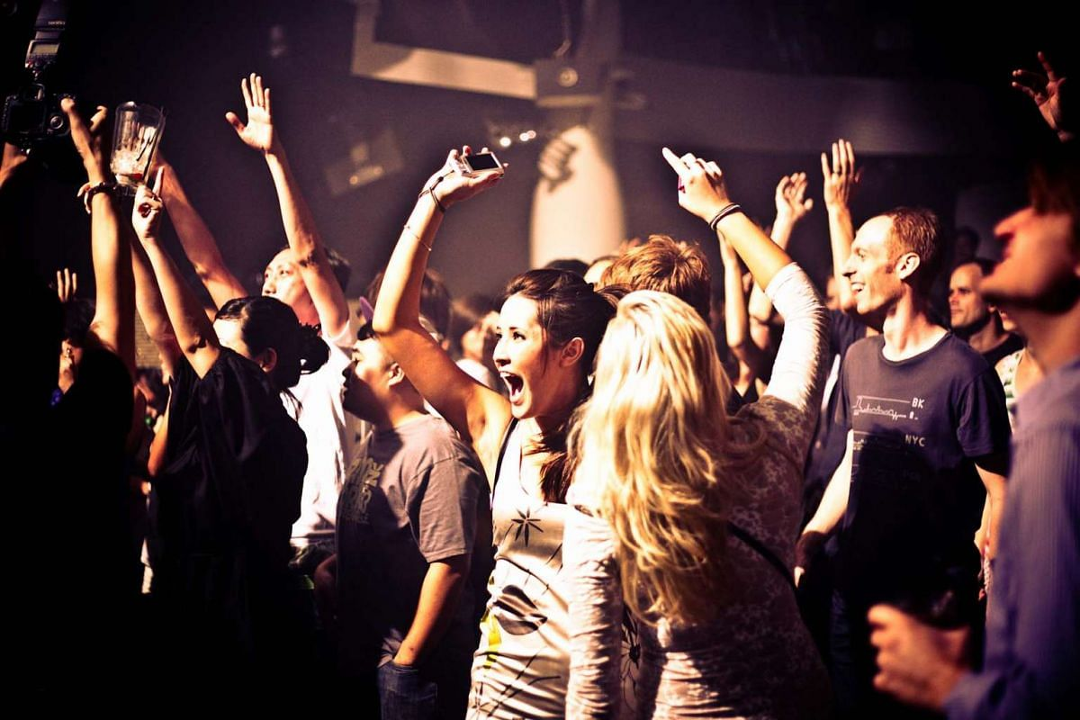 Partygoers during the annual dance music festival Worldwide Festival Singapore, which was held at Zouk in 2010.