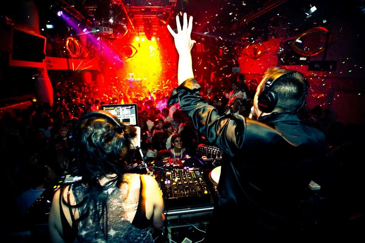 DJs entertain the crowd at Zouk's 19th anniversary bash in April 2010, where about 3,000 people turned up for an Oscar-themed party.