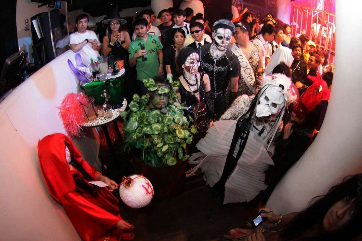 Partygoers dressed up in their Halloween best for Zouk's Halloween party in 2011.