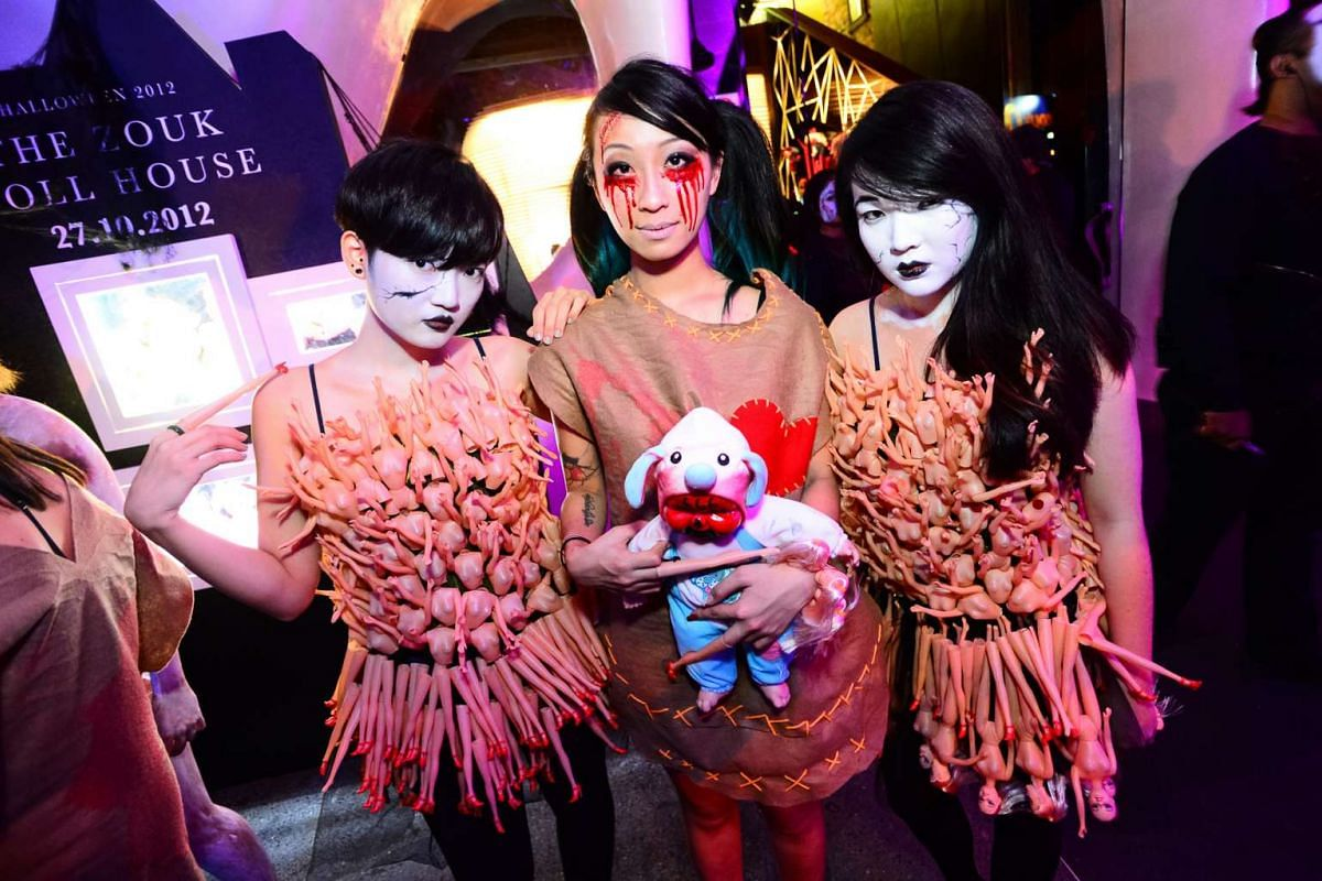 Patrons turned up in costume for Zouk's Halloween party in 2012.