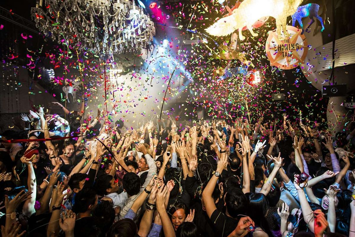 Partygoers at Zouk during its New Year's Eve party 2012.