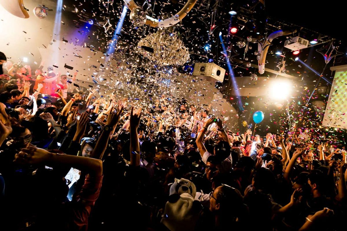 Patrons usher in the new year at Zouk's New Year countdown party in 2014.