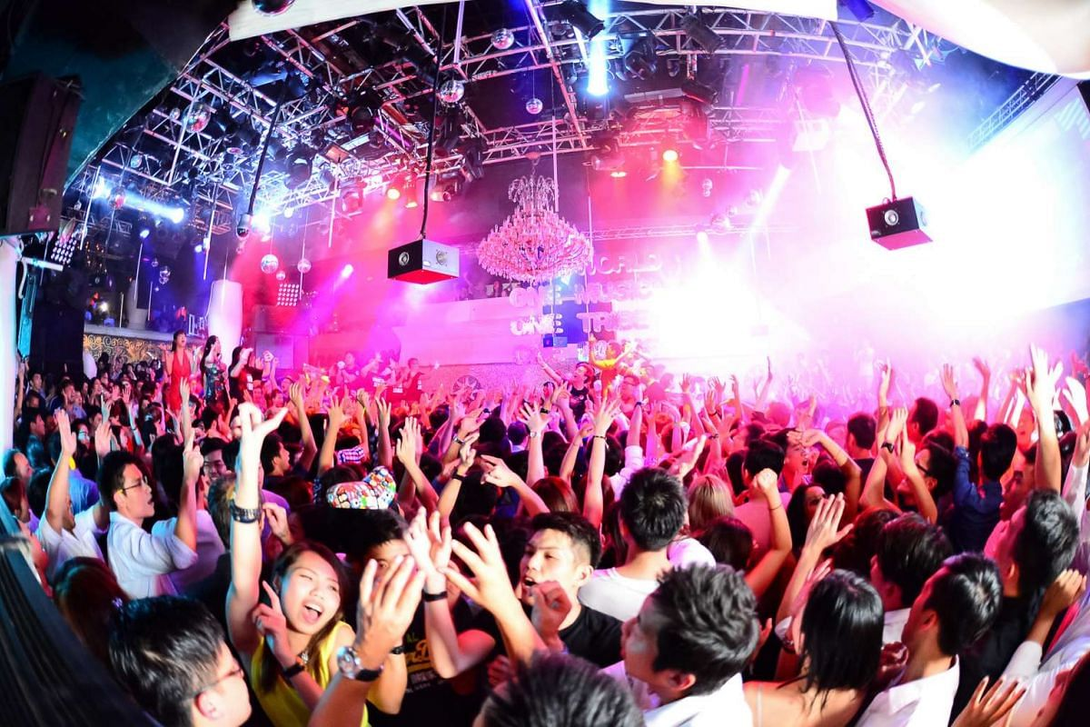 People dancing and partying at Zouk.