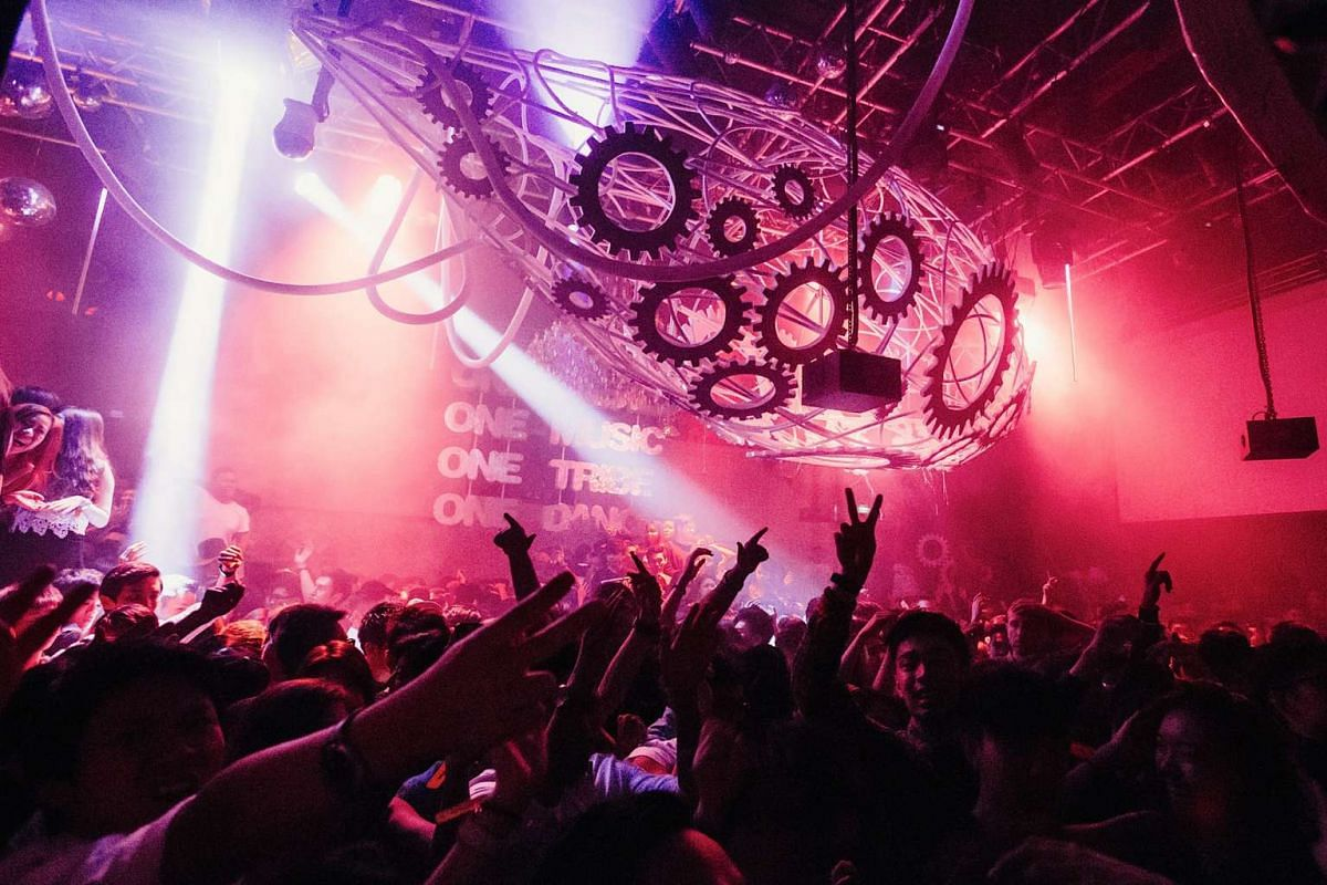 Patrons ring in the New Year on Jan 1, 2014, at Zouk Singapore.