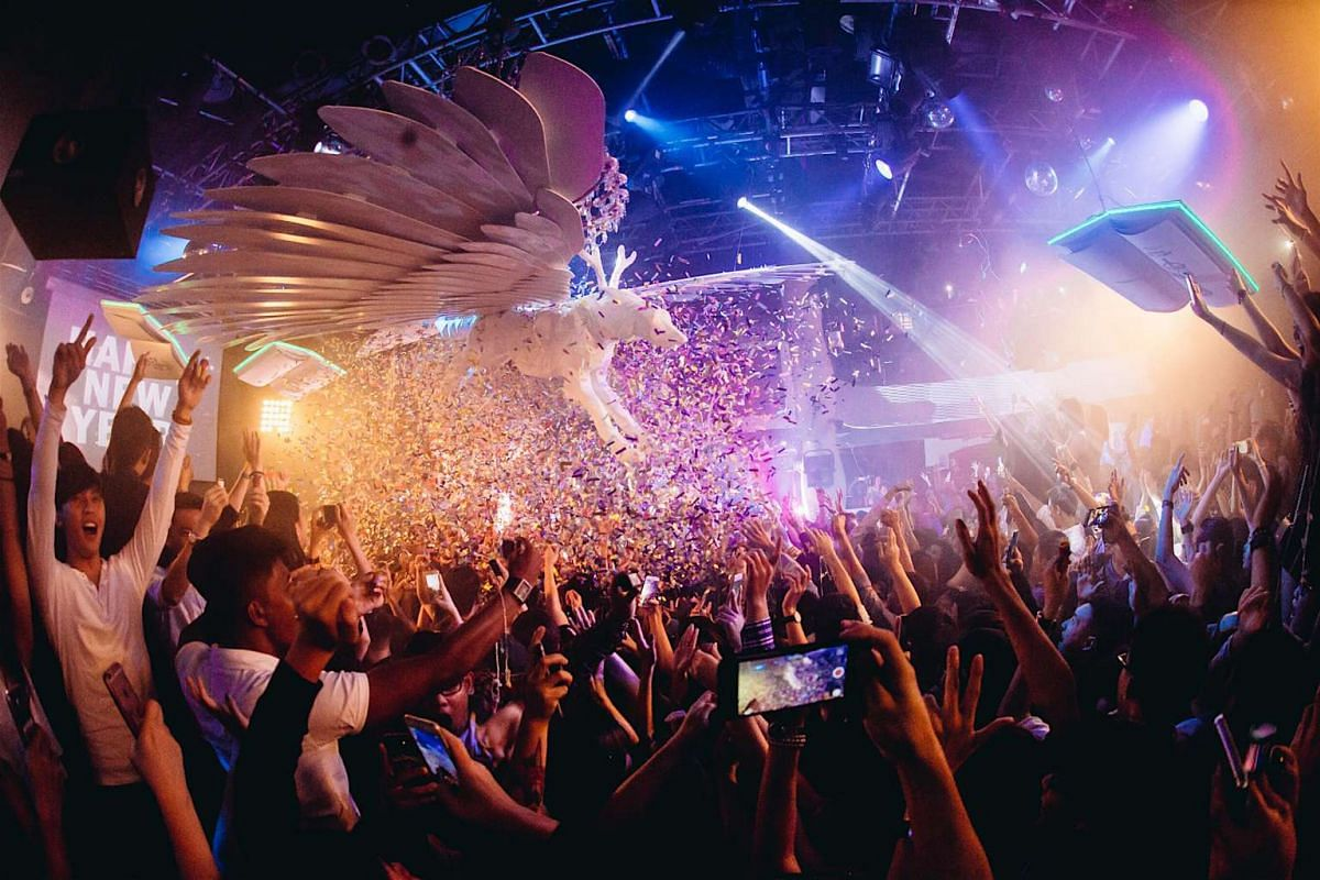 Partygoers at Zouk Singapore in 2016.