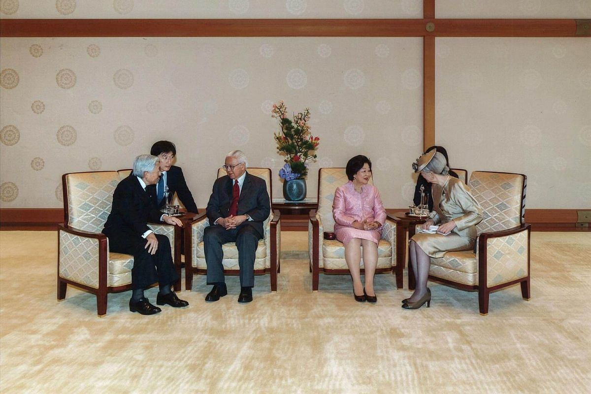 (From left) Emperor Akihito, Dr Tan, Mrs Tan and Empress Michiko at the Imperial Palace in Tokyo on Nov 30, 2016.