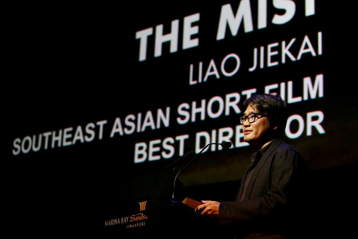 Director Liao Jiekai bagged the award for Best Director (The Mist) in a Southeast Asian Short Film at the Singapore International Film Festival's Silver Screen Awards on Dec 3.