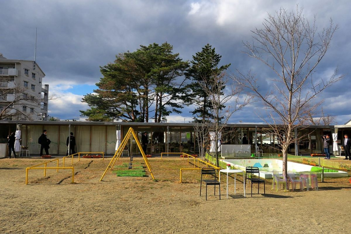 A view from the play area of the Shichigahama Toyama Nursery School.