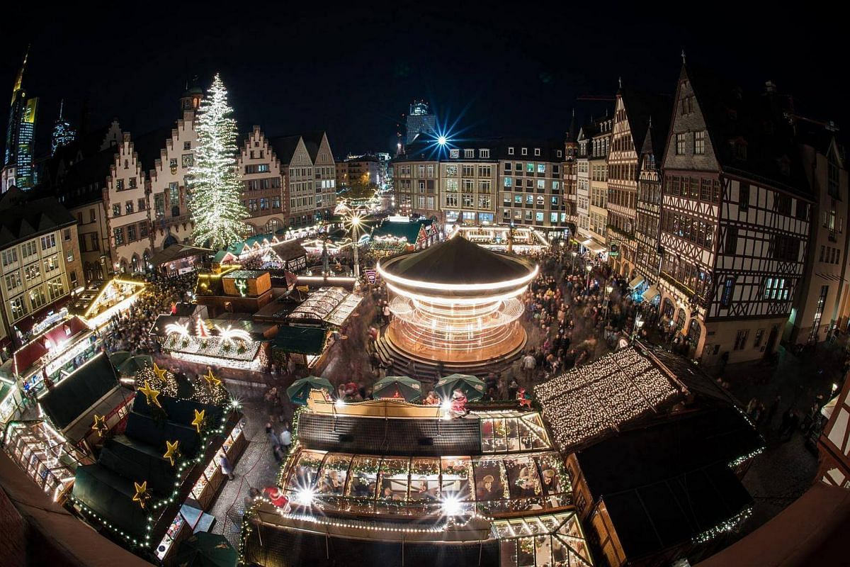 The Christmas market on the Roemerberg mountain was opened in Frankfurt, Germany, on Nov 23, 2016.