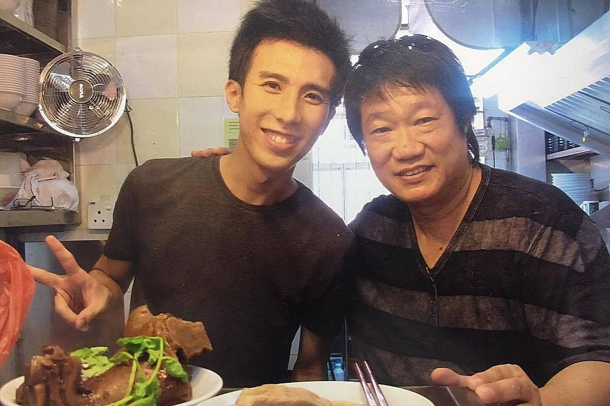 Mr Tan with food guide Makansutra founder KF Seetoh at the former's bak kut teh stall. Mr Tan Jun Yuan, who has a first-class honours degree in business, made headlines when he decided to become a hawker several years ago. He has given that up to go
