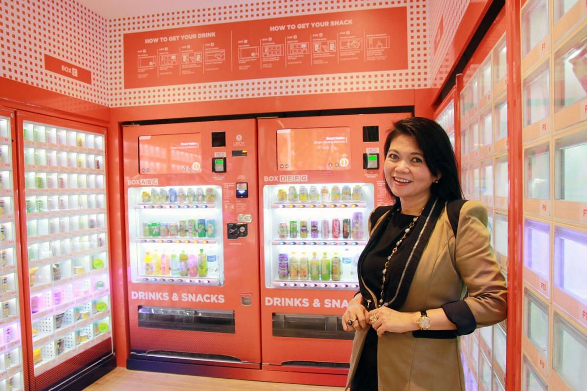 JR Group's Jocelyn Chng opened VendCafe in an HDB void deck in Sengkang after eight years of research, machine upgrades and the launch of hot food vending machines in places such as army camps.