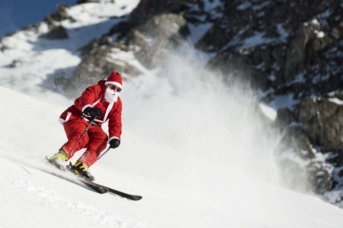 "Also in Switzerland, 1,200 ""Santa Clauses"" were given free access to the ski slopes during a promotional event at an alpine ski resort on Dec 3, 2016."