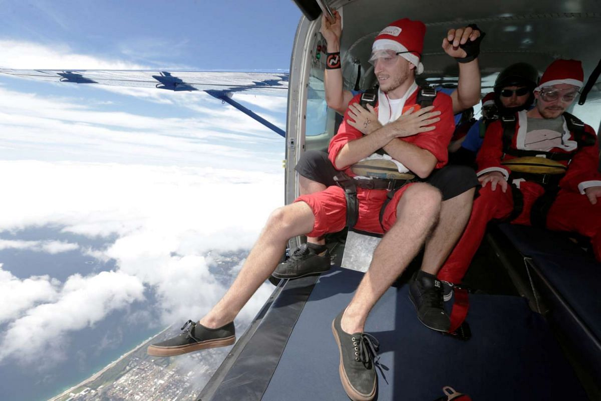 Santa took to the skies in decidedly more modern transportation than would be expected in Wollongong, Australia, as 155 skydivers dressed as Santa Claus set a new Guinness World Record for the most skydives in tandem over an eight-hour period on Dec