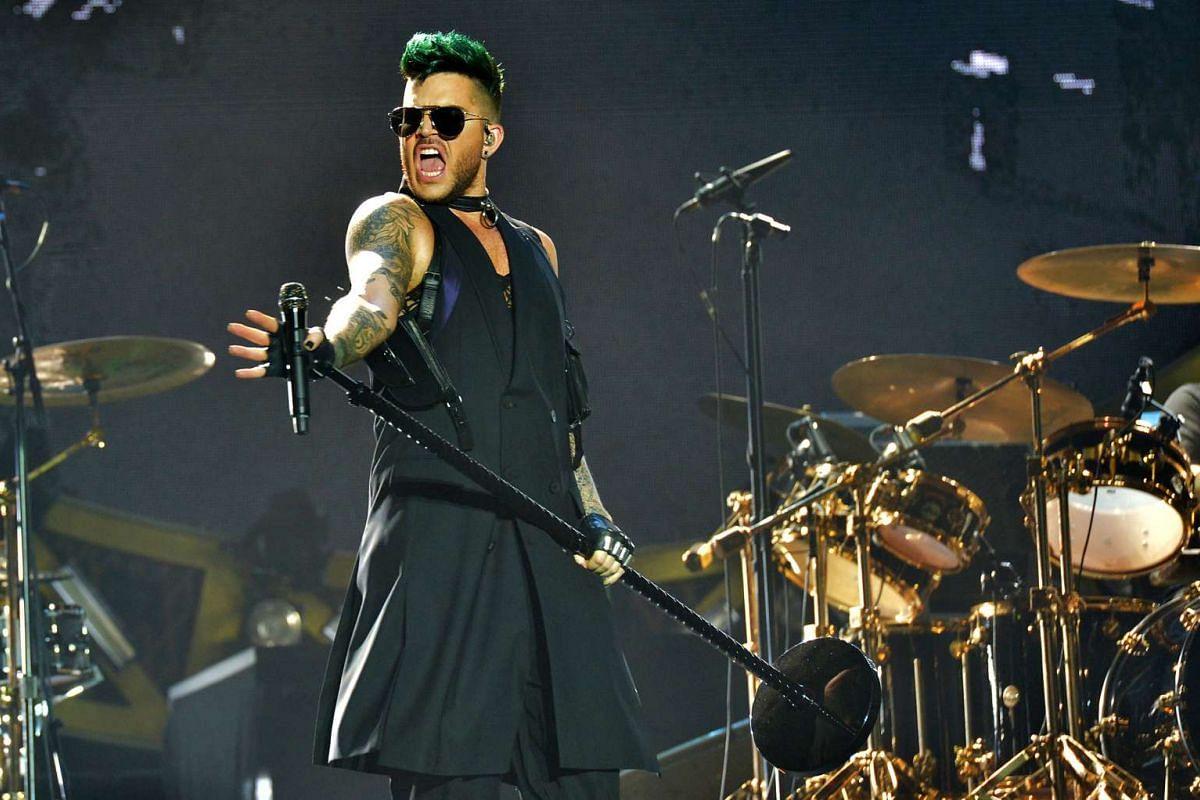 American singer Adam Lambert