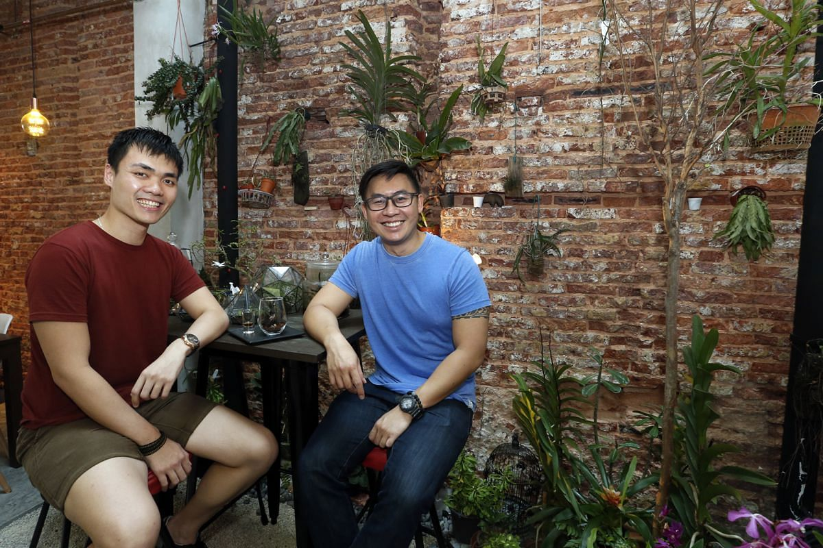 Epiphyte's co-owners Ivan Tan (above left) and Stan Ng, who love plants, wanted to infuse their cafe with their personalities.