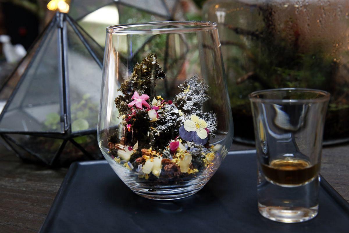 Epiphyte's terrarium-styled dessert.