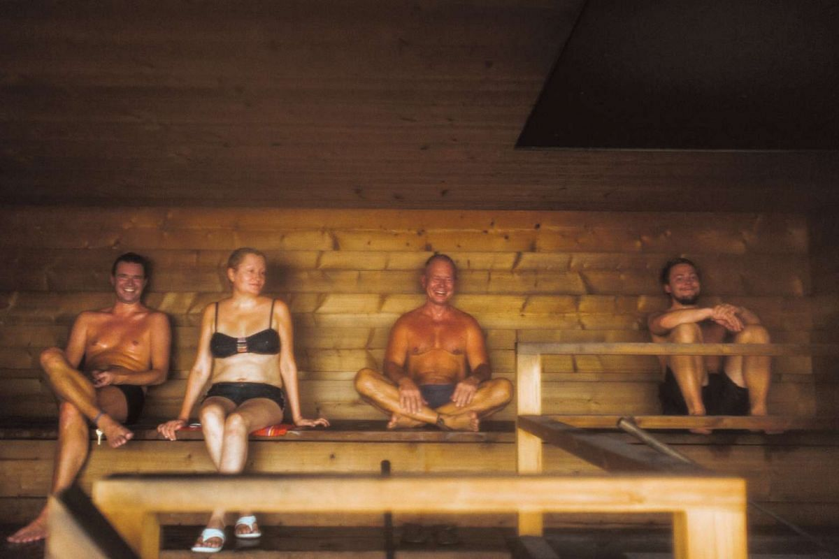 Plunge into the Baltic sea just outside the public sauna Loyly, then seek comfort inside (above).