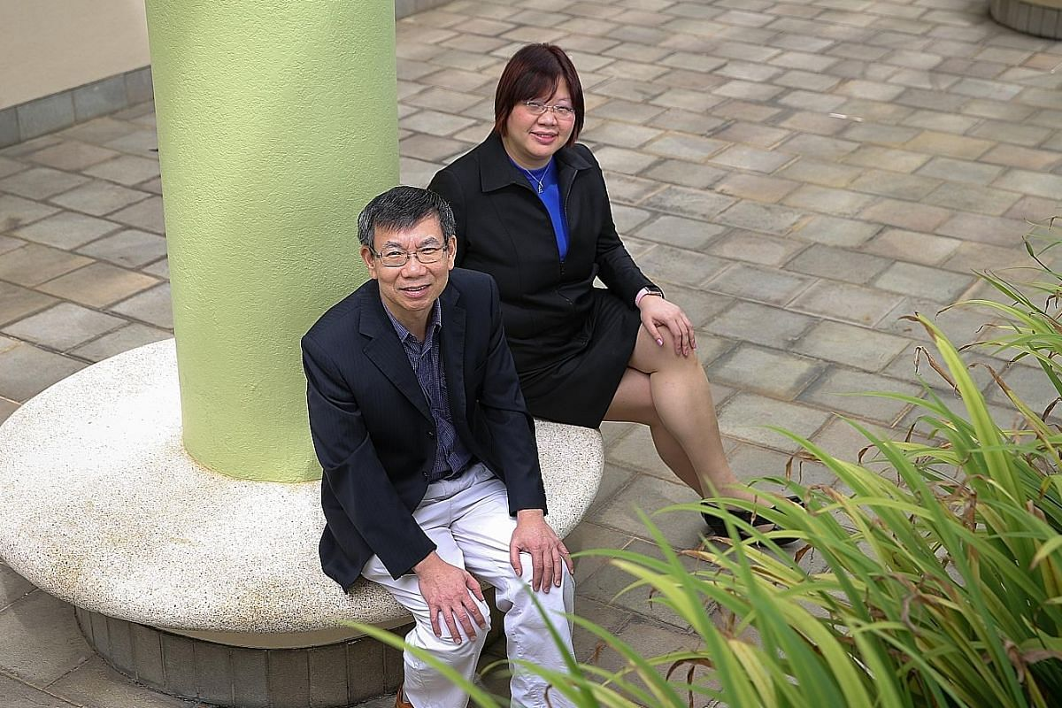 """NIE's Prof Tan (left) says its partnership with schools and MOE ensures that teacher education is in line with larger policies. Prof Low says having a central body that trains teachers makes Singapore """"unique""""."""